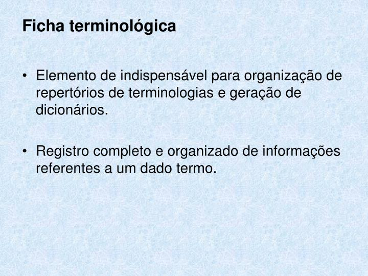 Ficha terminológica