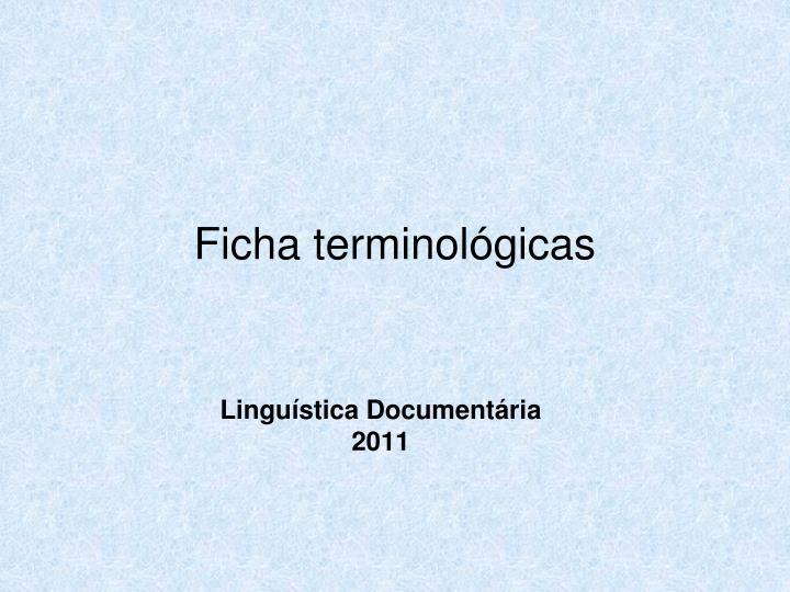 Ficha terminológicas