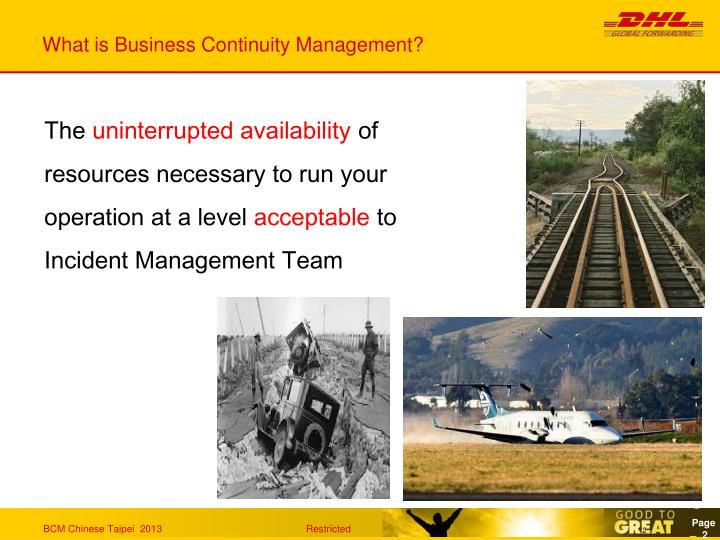 What is business continuity management