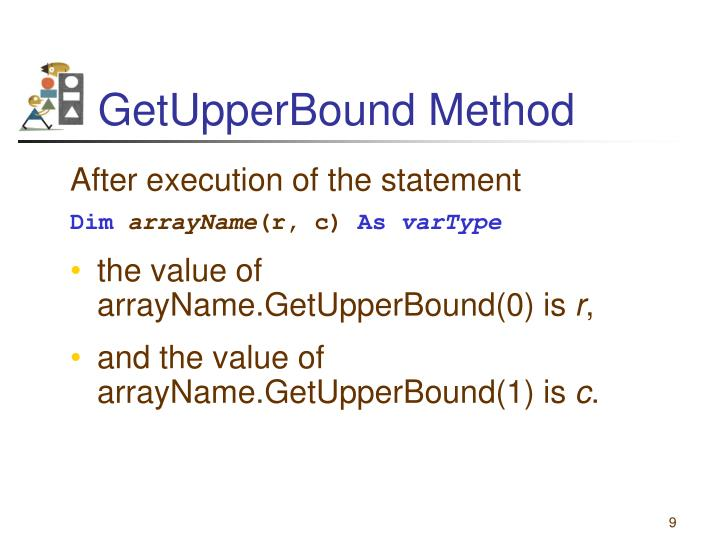 GetUpperBound Method