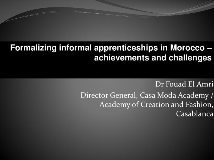 contribution la formalisation de l apprentissage informel r alisations et d fis