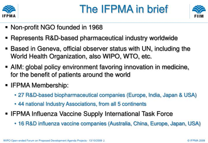 The IFPMA in brief