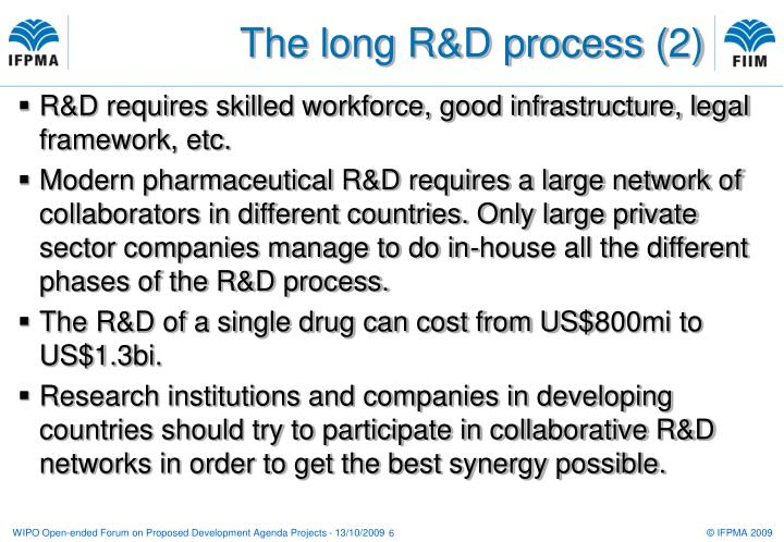 The long R&D process (2)