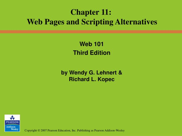 web 101 third edition by wendy g lehnert richard l kopec