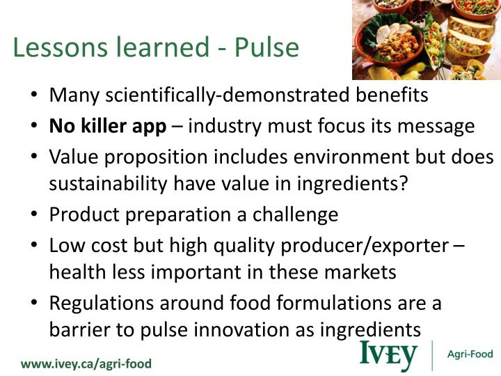 Lessons learned - Pulse
