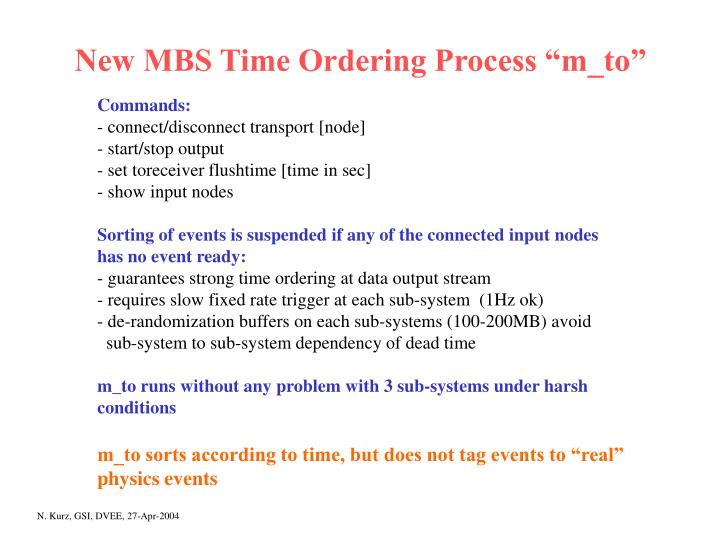 "New MBS Time Ordering Process ""m_to"""