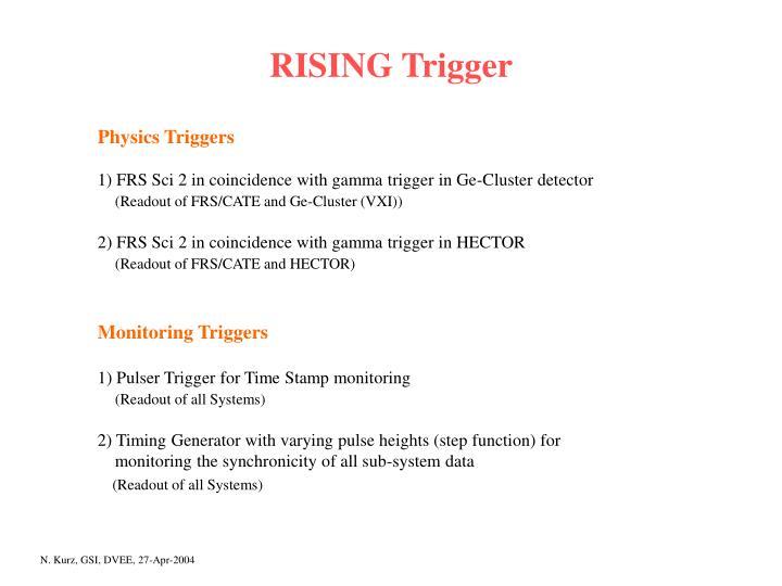 RISING Trigger
