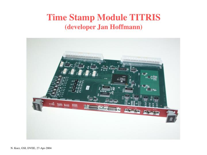 Time Stamp Module TITRIS