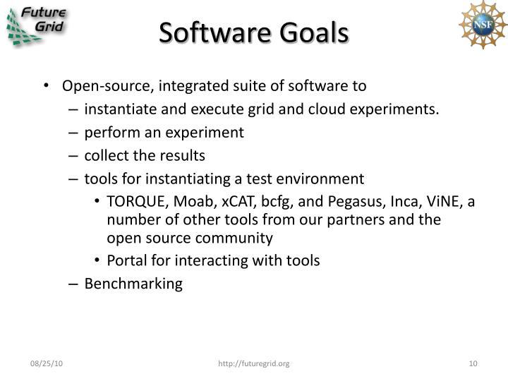 Software Goals