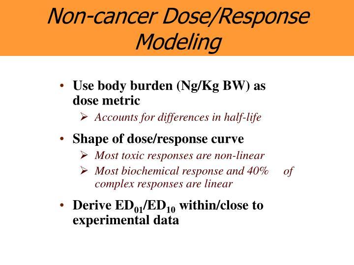 Non-cancer Dose/Response Modeling