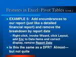 features in excel pivot tables cont5