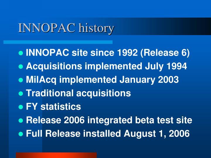 INNOPAC history