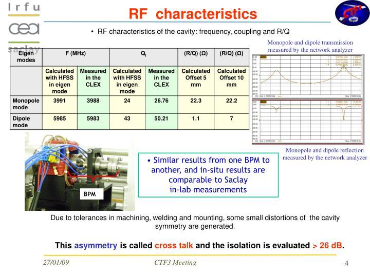 RF  characteristics