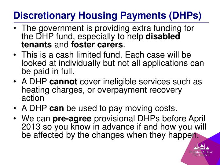 Discretionary Housing Payments (DHPs)