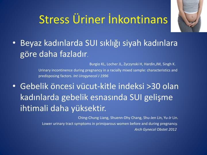 Stress Üriner İnkontinans