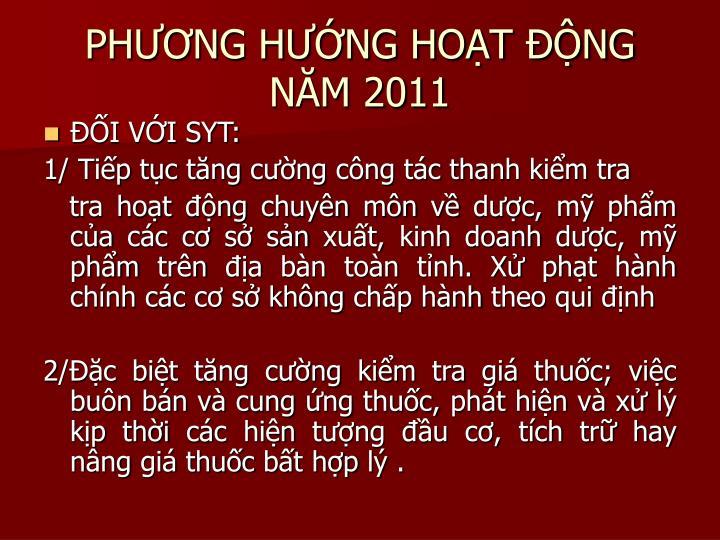PHNG HNG HOT NG NM 2011