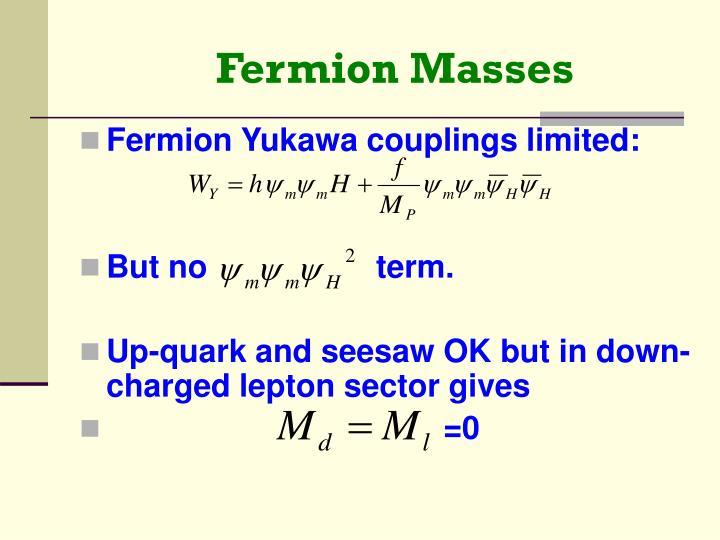 Fermion Masses
