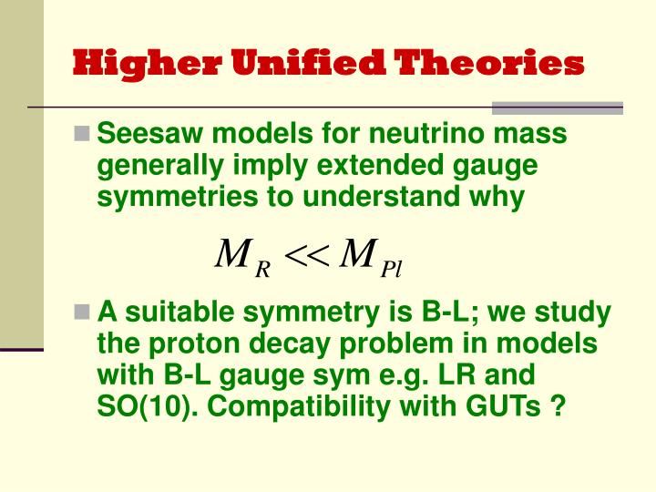 Higher Unified Theories