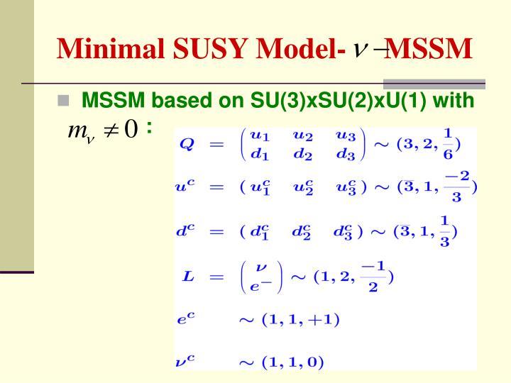 Minimal SUSY Model-     MSSM