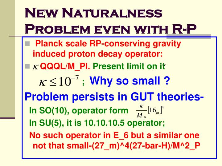 New Naturalness Problem even with R-P