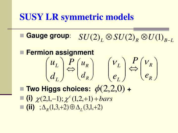 SUSY LR symmetric models