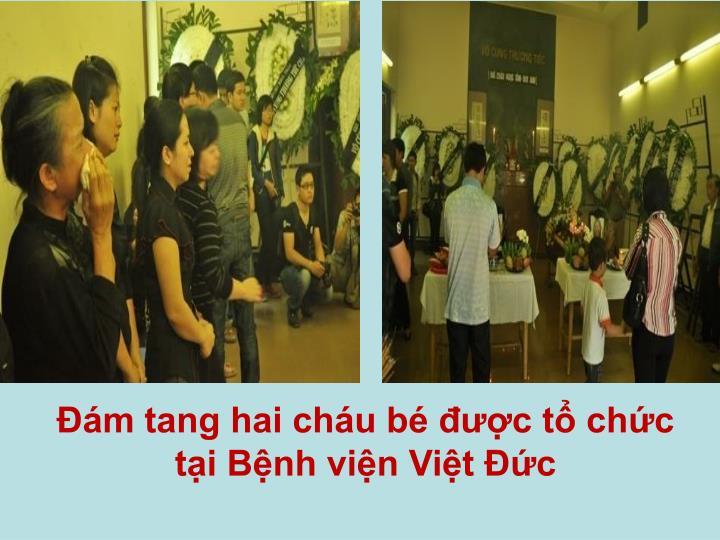 Đám tang hai cháu bé được tổ chức tại Bệnh viện Việt Đức