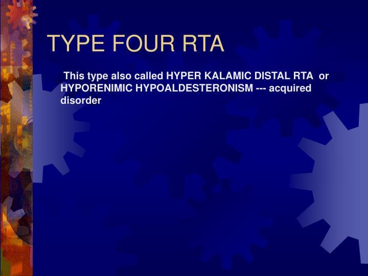 TYPE FOUR RTA