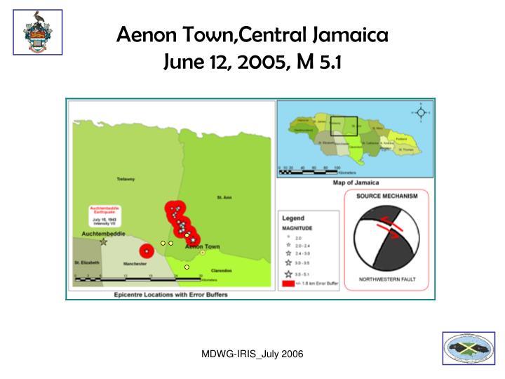 Aenon Town,Central Jamaica