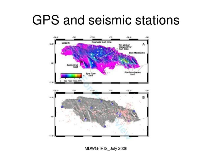 GPS and seismic stations