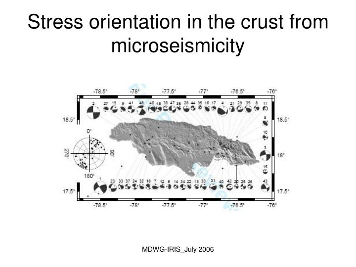 Stress orientation in the crust from microseismicity