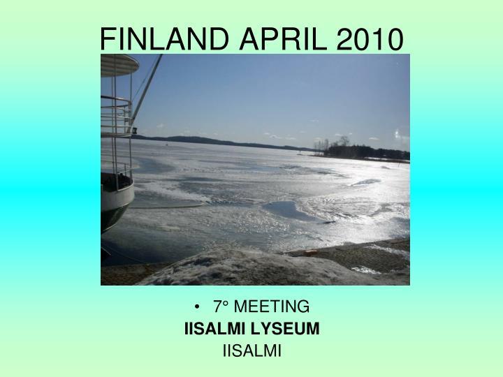 FINLAND APRIL 2010