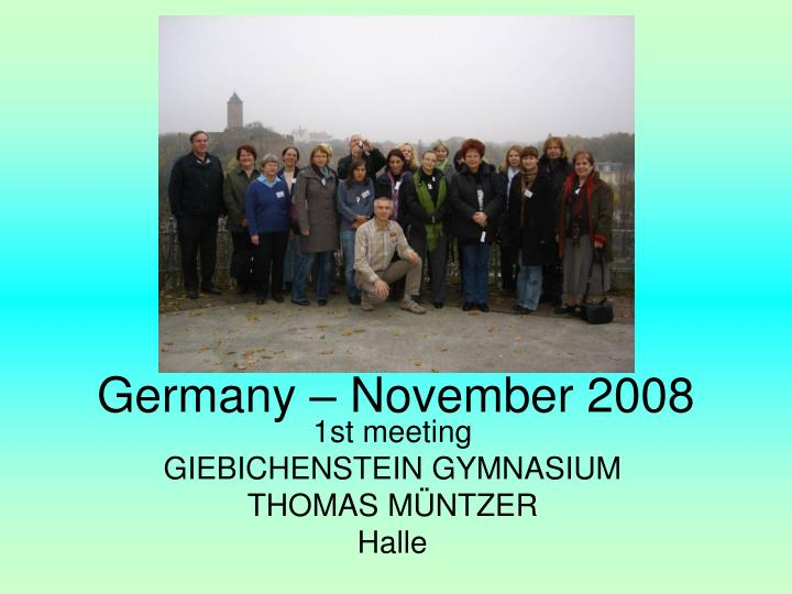 Germany – November 2008