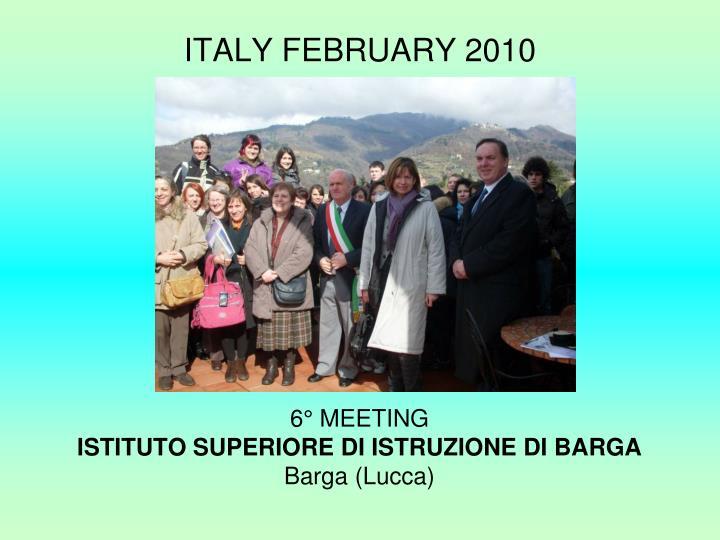 ITALY FEBRUARY 2010