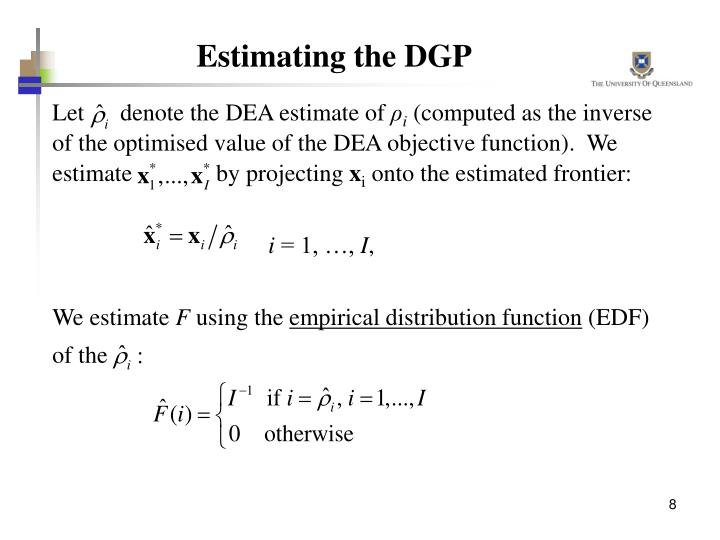 Estimating the DGP
