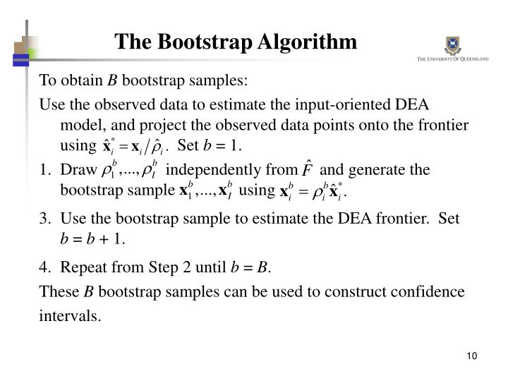 The Bootstrap Algorithm