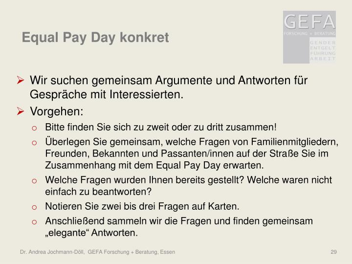 Equal Pay Day konkret