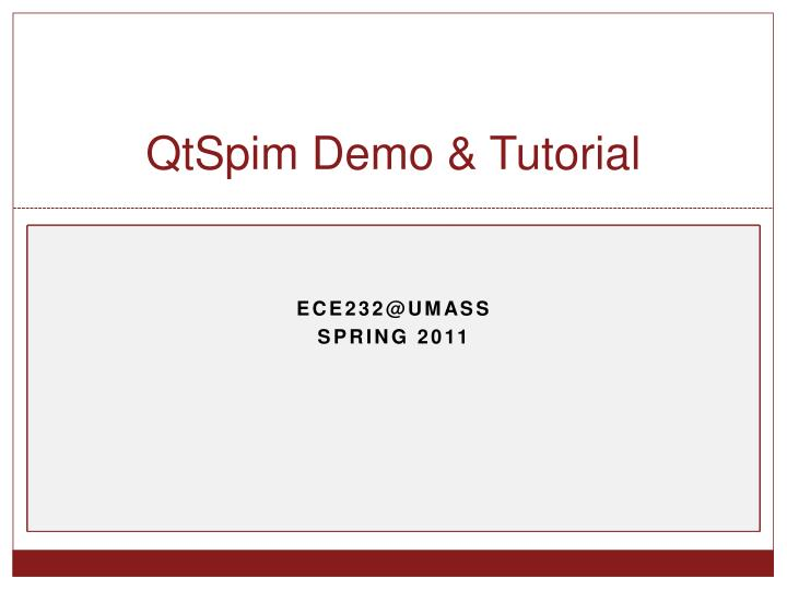 Qtspim demo tutorial