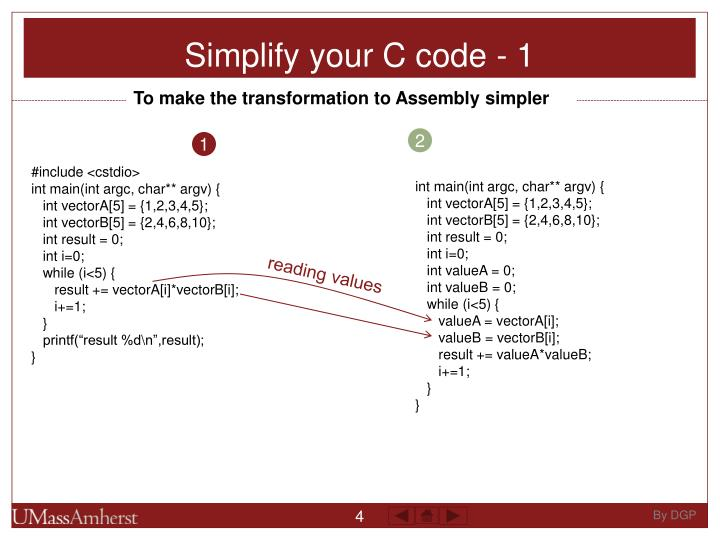 Simplify your C code - 1