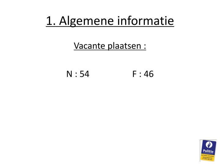 1. Algemene informatie