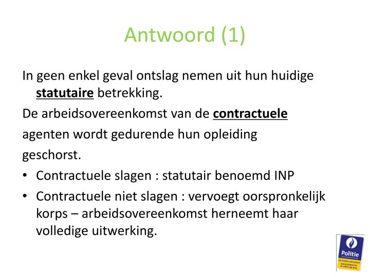Antwoord (1)