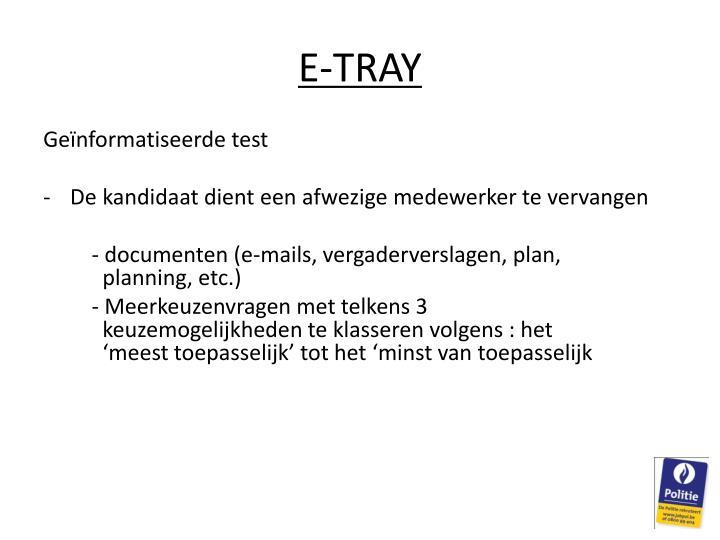E-TRAY