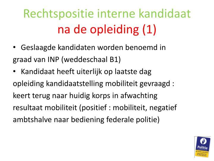 Rechtspositie interne kandidaat