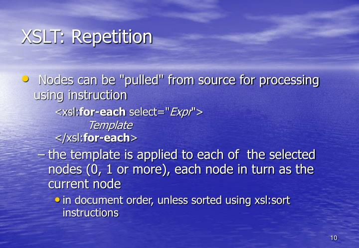 XSLT: Repetition