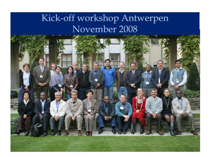 Kick-off workshop Antwerpen