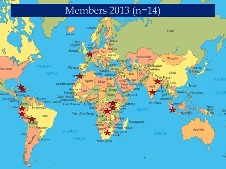 Members 2013 (n=14)