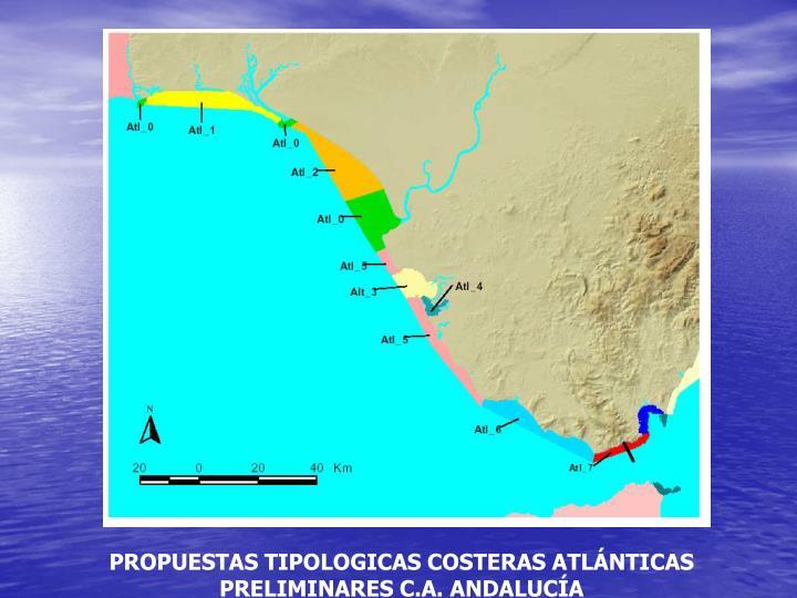 PROPUESTAS TIPOLOGICAS COSTERAS ATLÁNTICAS  PRELIMINARES C.A. ANDALUCÍA