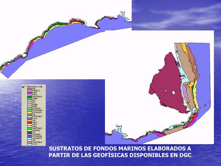 SUSTRATOS DE FONDOS MARINOS ELABORADOS A PARTIR DE LAS GEOFÍSICAS DISPONIBLES EN DGC