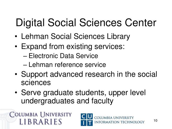 Digital Social Sciences Center