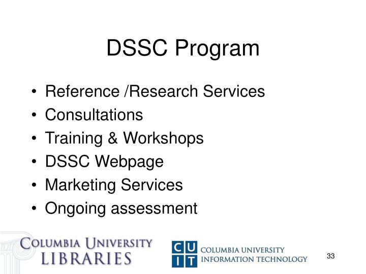 DSSC Program