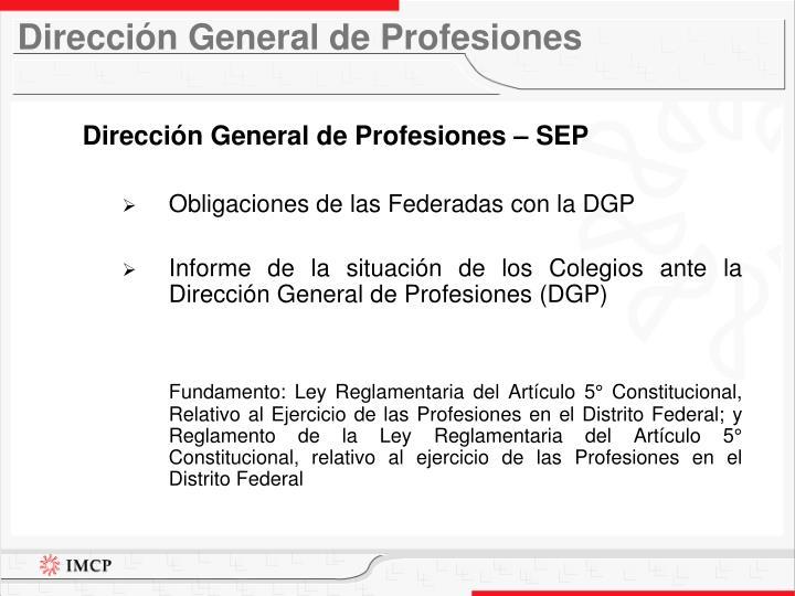 Dirección General de Profesiones
